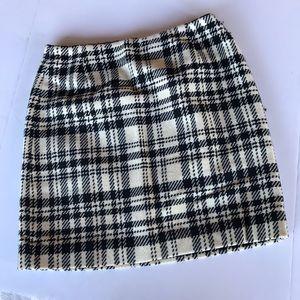 Eddie Bauer lined plaid flannel wool skirt size 10
